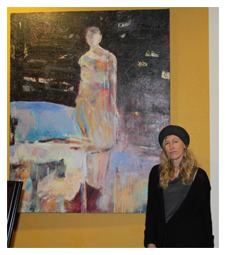 Artist Helen Steele at Room Interior Art Gallery : Art Walk : January 14, 2011